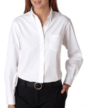 13V0110 Van Heusen Ladies' Long-Sleeve Blended Pinpoint