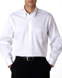 13V0143 Van Heusen Men's Long-Sleeve Non-Iron Pinpoint