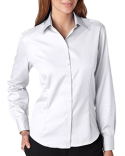 13V0144 Van Heusen Ladies' Long-Sleeve Non-Iron Pinpoint