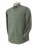 13V521 Van Heusen Men's Long-Sleeve Dress Twill