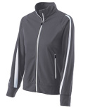 229342 Holloway Ladies Polyester Full Zip Determination Jacket