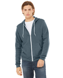 3739 Bella + Canvas Unisex Poly-Cotton Sponge Fleece Full-Zip Hooded Sweatshirt