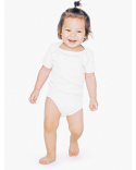 4001ORW American Apparel Infant Organic Baby Rib Short-Sleeve One-Piece
