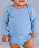 4411 Rabbit Skins Infant Long-Sleeve Baby Rib Bodysuit