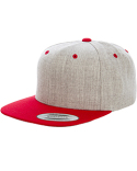 6089MT Yupoong Adult 6-Panel Structured Flat Visor Classic Two Tone Snapback