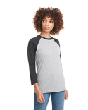 6251 Next Level Unisex CVC 3/4 Sleeve Raglan Baseball T-Shirt