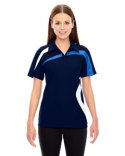 78645 Ash City - North End Ladies' Impact Performance Polyester Piqué Colorblock Polo