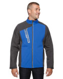 88176 Ash City - North End Men's Terrain Colorblock Soft Shell with Embossed Print