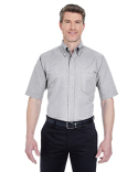 8972T UltraClub Men's Tall Classic Wrinkle-Resistant Short-Sleeve Oxford