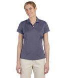 A162 adidas Golf Ladies' climalite® Textured Short-Sleeve Polo