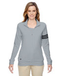 A191 adidas Golf Ladies' climalite® 3-Stripes Full-Zip