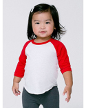 BB053W American Apparel Infant Poly-Cotton 3/4-Sleeve T-Shirt