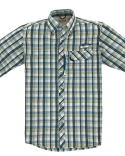 BP7015T Backpacker Men's Tall Sport Utility Short-Sleeve Plaid Shirt