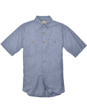 BP7019T Backpacker Men's Tall Slub Chambray Short-Sleeve Shirt