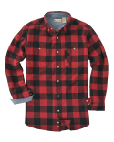 BP7040T Backpacker Men's Tall Yarn-Dyed Long-Sleeve Brushed Flannel