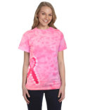 CD1150 Tie-Dye Pink Ribbon T-Shirt