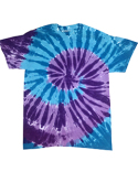 CD1180 Tie-Dye Adult 5.4 oz., 100% Cotton Islands Tie-Dyed T-Shirt