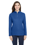 CE405W Core 365 Ladies' Fusion ChromaSoft™ Pique Quarter-Zip