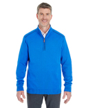DG478 Devon & Jones Men's Manchester Fully-Fashioned Quarter-Zip Sweater