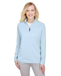 DG480W Devon & Jones CrownLux Performance™ Ladies' Clubhouse Micro-Stripe Quarter-Zip