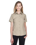 M560W Harriton Ladies' Barbados Textured Camp Shirt