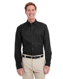 M581 Harriton Men's Foundation 100% Cotton Long-Sleeve Twill Shirt with Teflon™