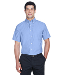 M600S Harriton Men's Short-Sleeve Oxford with Stain-Release