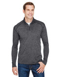 N4010 A4 Men's Tonal Space-Dye Quarter-Zip