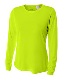 NW3002 A4 Ladies' Long Sleeve Cooling Performance Crew Shirt
