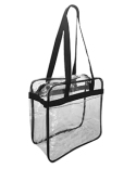 OAD5005 Liberty Bags OAD Clear Tote w/ Zippered Top