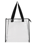 OAD5006 Liberty Bags OAD Clear Tote w/ Gusseted And Zippered Top
