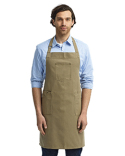 RP132 Artisan Collection by Reprime Unisex Cotton Chino Bib Apron
