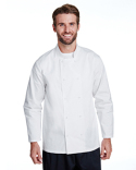 RP665 Artisan Collection by Reprime Unisex Studded Front Long-Sleeve Chef's Coat