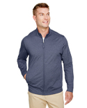 UC400 UltraClub Men's Navigator Heather Performance Full-Zip