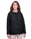 UC708W UltraClub Ladies' Dawson Quilted Hacking Jacket