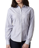 V0421 Van Heusen Ladies' Long-Sleeve Non-Iron Feather Stripe