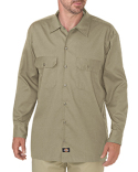 WL675 Dickies Men's FLEX Relaxed Fit Long-Sleeve Twill Work Shirt