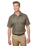 WS673 Dickies Men's Short Sleeve Slim Fit Flex Twill Work Shirt