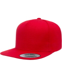 YP5089 Yupoong Adult 5-Panel Structured Flat Visor Classic Snapback Cap
